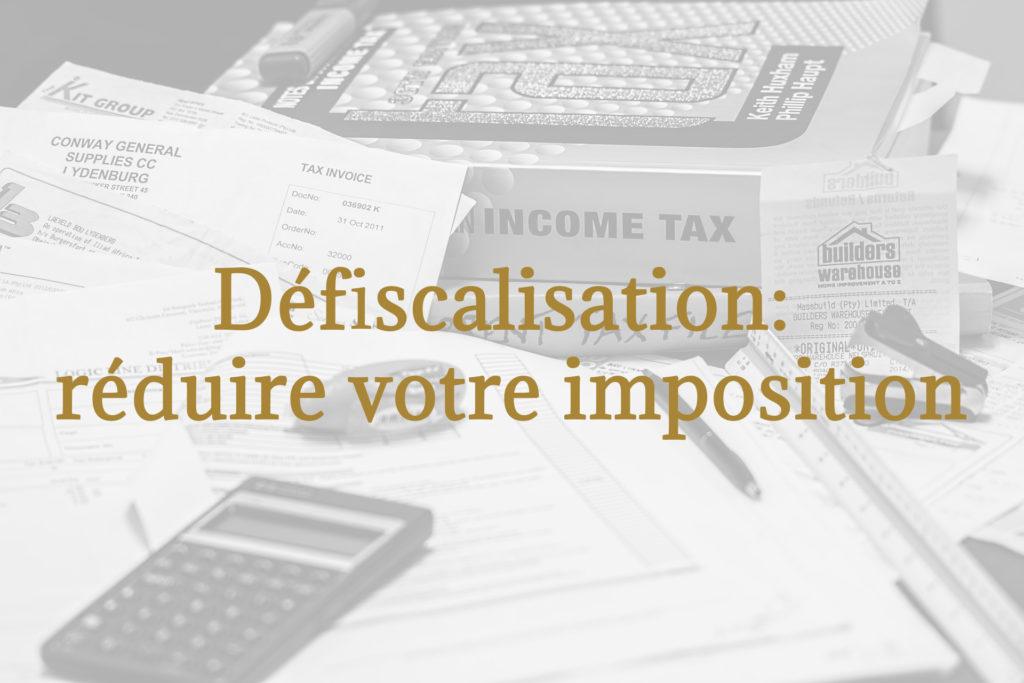 réduire votre imposition